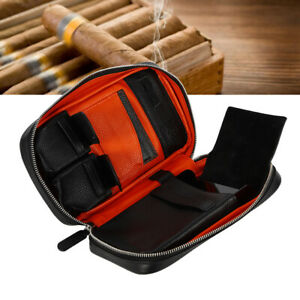 Leather Cigar Case Portable Cigar Travel Case Cigar Humidor Hold for 5 Cigars US $80.78