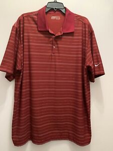 Mens nike dry fit golf shirt Maroon Size X Large Excellent $7.50