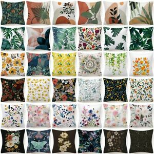 18x18 Throw PILLOW COVER Floral Double Sided Decorative Flower Bed Cushion Case