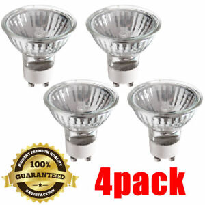 4 PACK Halogen Flood GU10 120V 50W Light Bulb