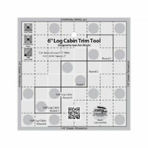 Log Cabin Trim Tool 6quot; finished blocks Creative Grid Quilting Ruler $19.99