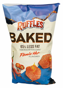 Ruffles Oven Baked Flamin Hot Flavored Potato Chips 6.25 oz