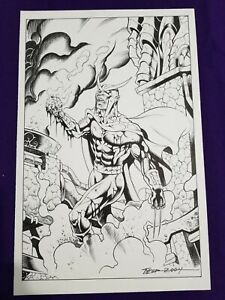 Tim Tyler Faust Original Pencil amp; Ink 11x17 Signed $40.00