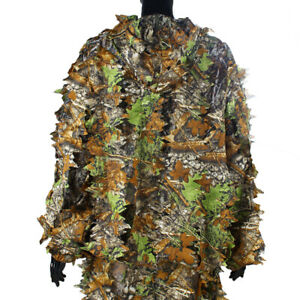 Tactical 3D Leafy Camo Camouflage Clothing Ghillie Suit Jungle Woodland Hunting