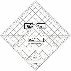 Bloc Loc Half Square Triangle Ruler Set #3 1.5#x27;#x27;3.5#x27;#x27;5.5#x27;#x27; Acrylic Ruler $45.18