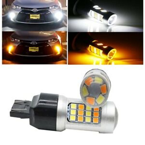 Switchback 7440 7443 LED Bulbs For 15 17 Toyota Camry Turn Signal Light $12.55