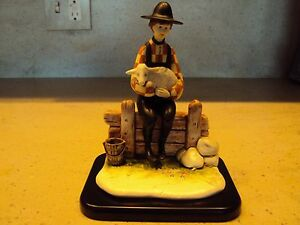 P.Buckley Moss' quot;YOUNG SHEPHERDquot; Porcelain Sculpture*New in box with COA $99.00