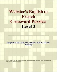 Webster#x27;s English to French Crossword Puzzles by Icon Reference Staff $15.05