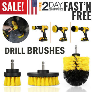 Car Wash Brush Hard Bristle Drill Auto Scrubber Detailing Cleaning Tools Nylon $9.99