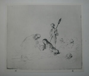 COMMUNION OF THE SICK French Impressionist FORAIN 1925 LITHOGRAPHIC of Etching GBP 9.99