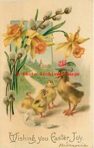 Easter IAP No IAP02 1 Duck with Baby Chicks under Yellow Lilys amp; Pussy Willows $6.99