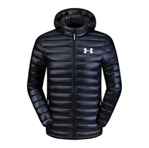 Hot Under Armour Down Mens Jacket Winter Thick Coat Hooded Warm Puffer Overcoat $9.99