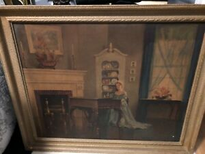 Original Framed Painting quot;Song of Lovequot; signed M. Ditlef $95.00