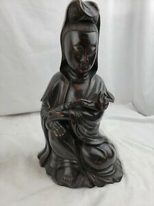 Superb antique old chinese wood figurine outstanding 11quot; $111.92