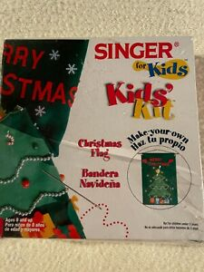 Singer for Kids Christmas Flag kit Unopened and sealed package #01911 $7.69