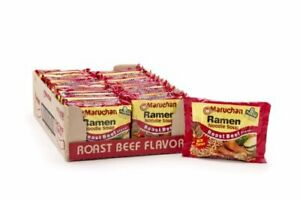 Maruchan Ramen Roast Beef Flavor 3 Ounce Packages Nood;e Soup Pack of 24 $26.78