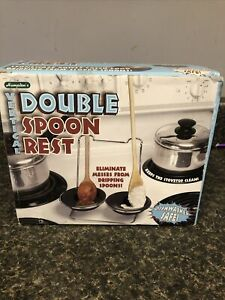 Double Spoon Rest Hampton#x27;s Vertical Stoneware Bowls Great Gift $9.99