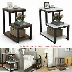 3 Tier Creative Square Side Sofa End Table Corner Stand Furniture 2 Colors $62.99