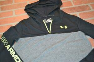 14227 a Kids Boys Under Armour Shirt Hoodie Size Medium Black Gray $15.49