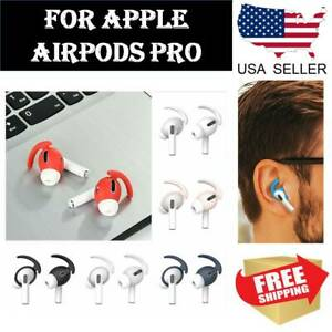 Soft Rubber Ear Hooks Earbud Holder Cover For Apple AirPods Pro Accessories $2.89
