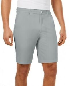 Greg Norman Mens Shorts Gray Size 36 Golf Performance Fuego Flat Front $55 #065 $13.66