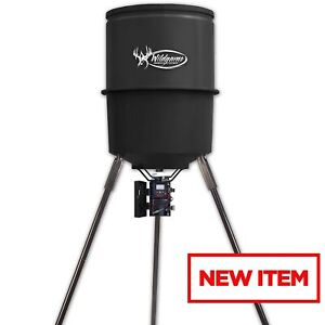 30 Gallon Quick Set Game Feeder Deer Hunting Bait Timer Outdoor Sporting Goods