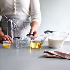 Pampered Chef Easy Read Measuring Cup Set Of 4 Nest Together $19.89