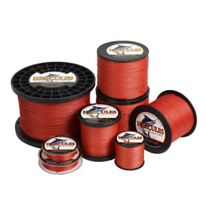 Hercules Red 109YD 2187YD 6lb 300lb 4 8 Strands Strong PE Braided Fishing Line