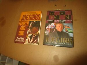 Joe Gibbs Washington Redskins Football amp; NASCAR Book Lot 2