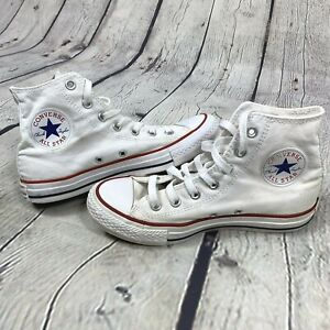 Converse Chuck Taylor All Star Sneakers size 7 Womens 5 Mens High Top White $29.99