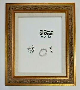 Ornate Gold Floral Design Picture Frame w Liner Canvas Oil Painting Ass#x27;t Sizes $26.00
