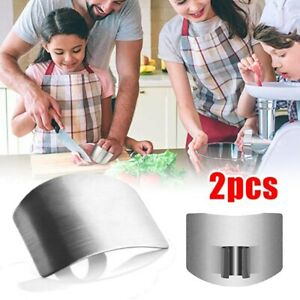 2x Stainless Finger Guard Knife Cutting Protector Hand Kitchen Safe Slice Tool $6.59