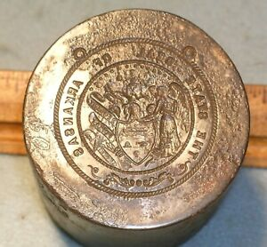 Antique ARKANSAS STATE SEAL Stamping Die * MC Lilley