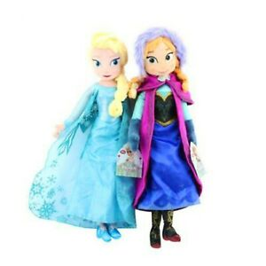 16quot; inches Disney Frozen Movie Queen Elsa amp; Anna Plush Soft Doll Gift Collection $19.98