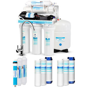 5 Stage Reverse Osmosis RO System Drinking Water Filter 75 GPD with Booster Pump $265.99