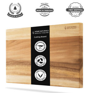 Thick Wood Cutting Board Reversible Kitchen Butcher Block with Gradient Color $26.72