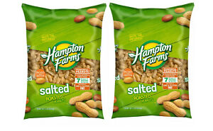 Pack of 2 Hampton Farms Salted In Shell Peanuts 5lbs $18.38