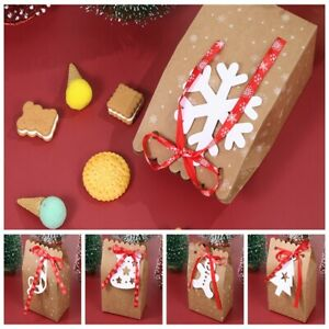 Supplies Christmas Gift Kraft Paper Bag Packing Bags Xmas Stickers Food Package C $4.32