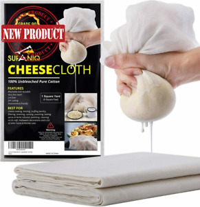 Natural Unbleached Cheesecloth Canning Straining Cheese Cloth Cotton Grade 90
