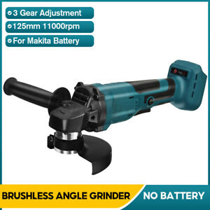 18V Brushless Cordless Angle Grinder MAX Cut Off 125mm 800W For Makita Battery