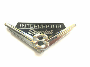 POLICE INTERCEPTOR SPECIAL V8 FENDER EMBLEM BUY 2 amp; GET 3 CROWN VIC $10.00