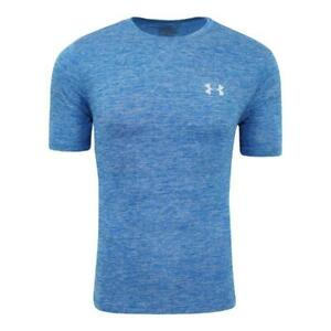 NEW Under Armour Mens UA Space Dye T Shirt Tee Blue L XXL WORKOUT gym RUNNING $12.50
