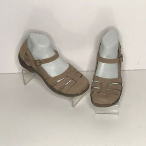 dansko brown leather nursing sandals maryjane shoes womens us size 39 us 8.5 9
