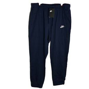 Nike XL Men's Sportswear Club Jersey Jogger Sweatpants NWT Navy Blue Tapered Leg $38.97