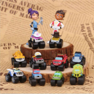 Blaze And The Monster Machines Vehicle 12 PCS Action Figure Doll Gift Kids Toys $12.68