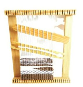 12x16 inch Weaving loom Made from durable solid natural wood.