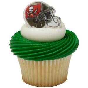 24 Tampa Bay Football Party Cupcake Rings Toppers Free Shipping New $12.99