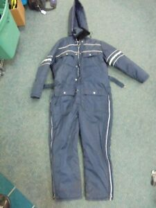Vintage SEARS Work Leisure Insulated Hooded Snowsuit Winter Snow Coveralls 1 PC $44.99