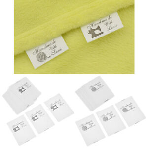 100X Handmade with Love Labels Tags Fabric Sewing Quilt Garment Bag Sewing DIY $2.65