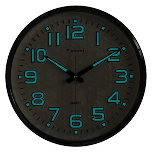 Plumeet Night Light Wall Clocks 13 Inches Clock with Silent Non Ticking Good $41.65